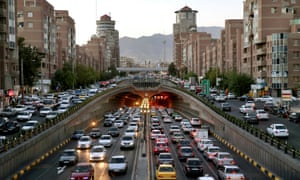 Congestion in central Tehran.
