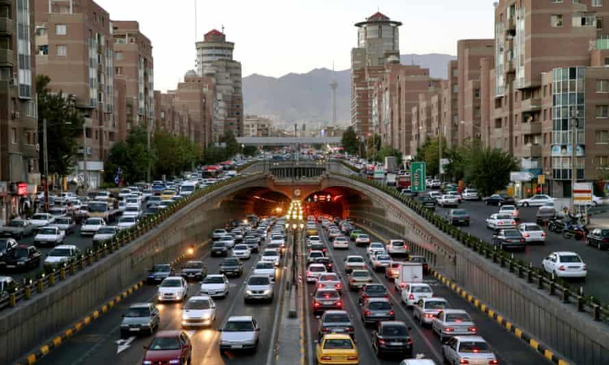Congestion in central Tehran.