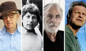 Directors under fire: Woody Allen, Roman Polanski, Michael Haneke and Terry Gilliam.