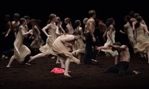 Shuddering, tribal and trance-like … Pina Bausch's The Rite of Spring, performed by English National Ballet.