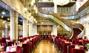 Fine dining … the restaurant at the Abbasi hotel, Isfahan, Iran.