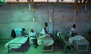 A cholera ward at a hospital in Les Cayes Haiti.