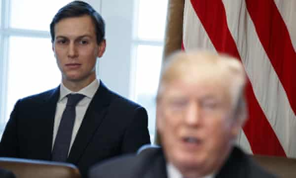 Jared Kushner listens as Trump speaks during a cabinet meeting at the White House.