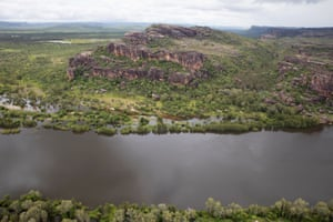 Stone and water: Kakadu from the air
