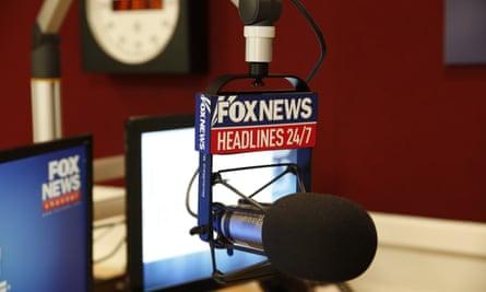 Fox News Channel studio in New York.