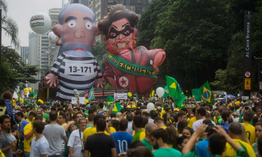 A rally against Lula And Dilma Rousseff in Sao Paulo