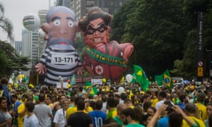 Protests against Rousseff and Lula in São Paulo.