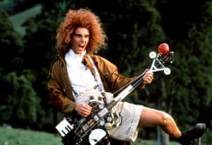 Yahoo Serious as Young Einstein: Tasmanian apple farmer... and creator of rock and roll.