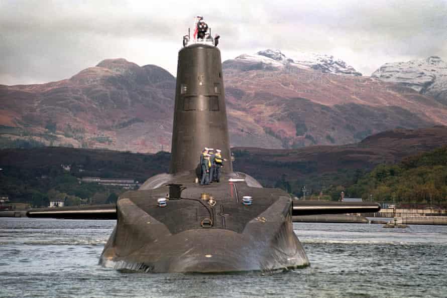 The Royal Navy's Trident-class nuclear submarine Vanguard