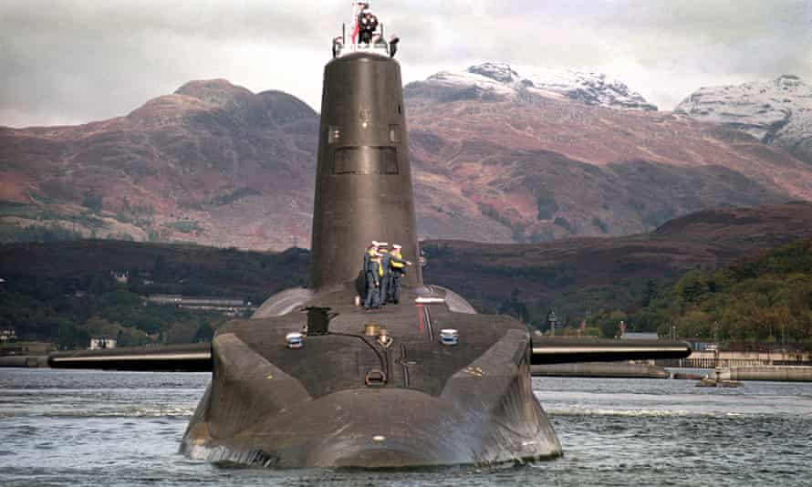 The Royal Navy's Trident-class nuclear submarine Vanguard: 'On security, on jobs and on Britain's role in the world the evidence is stacked in Trident's favour.'