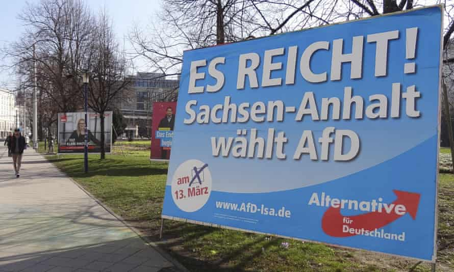 An AfD campaign poster in Magdeburg