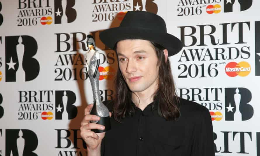 James Bay with his best British male solo artist award