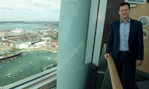 Nick Clegg during a visit to the Spinnaker Tower in Portsmouth yesterday