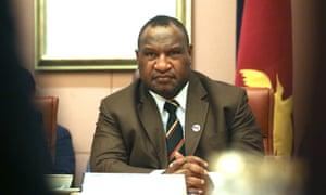 Papua New Guinea's prime minister James Marape