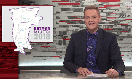 ABC show Tonightly with Tom Ballard has come under fire for a segment on the Batman byelection.