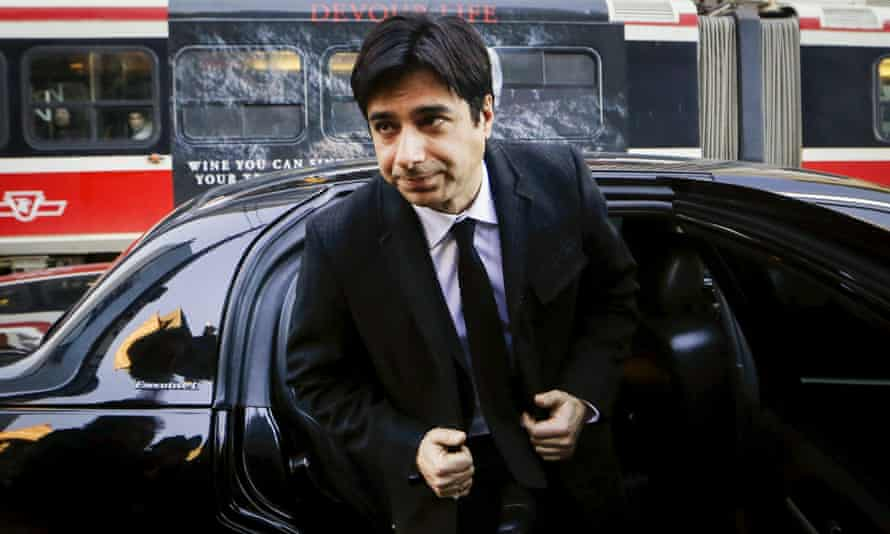 Jian Ghomeshi arrives for his first day of court in Toronto.