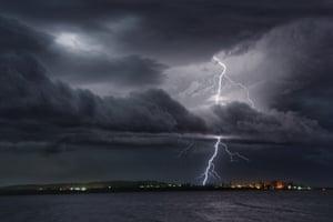 Spectacular Lightning Show over Trial Bay by Hugo Begg