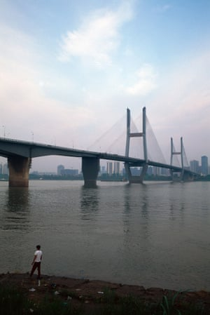 Second Wuhan Yangtze river bridge.