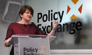 Arlene Foster speaking to the Policy Exchange thinktank today.