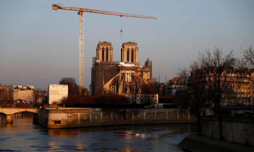 Work continues to rebuild Notre Dame in Paris.