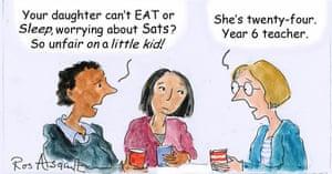 Exam pressure takes its toll education the guardian ros asquith lines cartoon altavistaventures Images