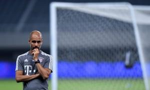 Bayern Munich's Pep Guardiola