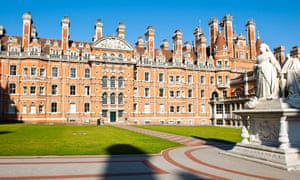 Views of Inner Courtyard & Facade,Royal Holloway College was a women-only institution,officially opened 1886 by Queen VictoriaCN4WHD Views of Inner Courtyard & Facade,Royal Holloway College was a women-only institution,officially opened 1886 by Queen Victoria