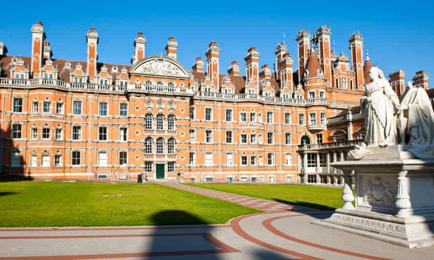 The Royal Holloway College in Egham, Surrey