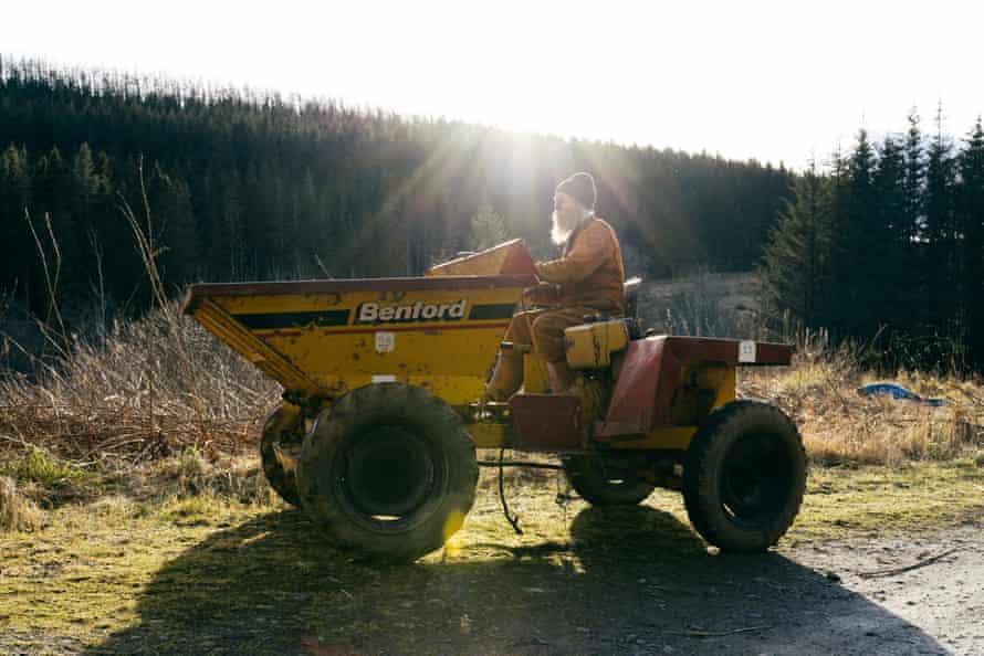 Jake Williams at work on his land