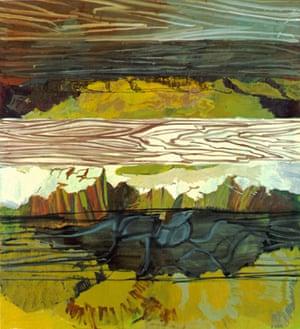Brett-Felsen, 2000, by Per Kirkeby.