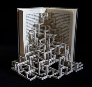 The Sound and the Fury book sculpture by Stephen Doyle.