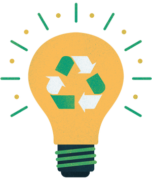 Recycling - lightbulb moment.