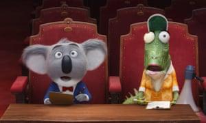 Matthew McConaughey voices koala bear Buster Moon (left) in Sing