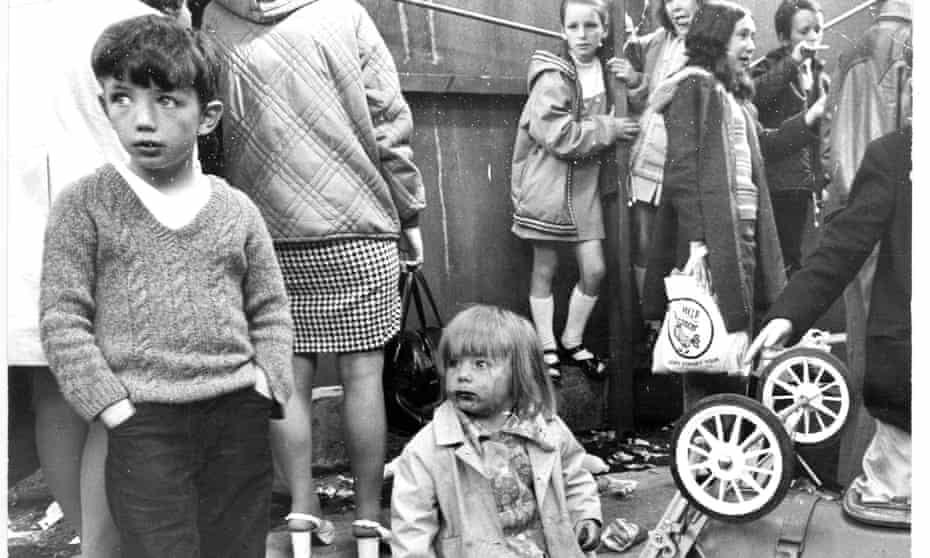 Catholic children being evacuated from Belfast to Dublin in 1972