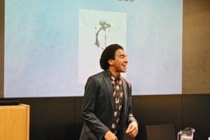 Joseph Coelho performs poetry and shares the joys of encouraging young people to read and write at the Guardian Education Centre Reading for pleasure conference 9 November 2018