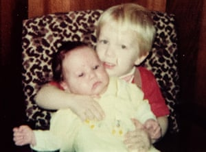 Rachel Dolezal as a baby, being held by Josh, her biological brother