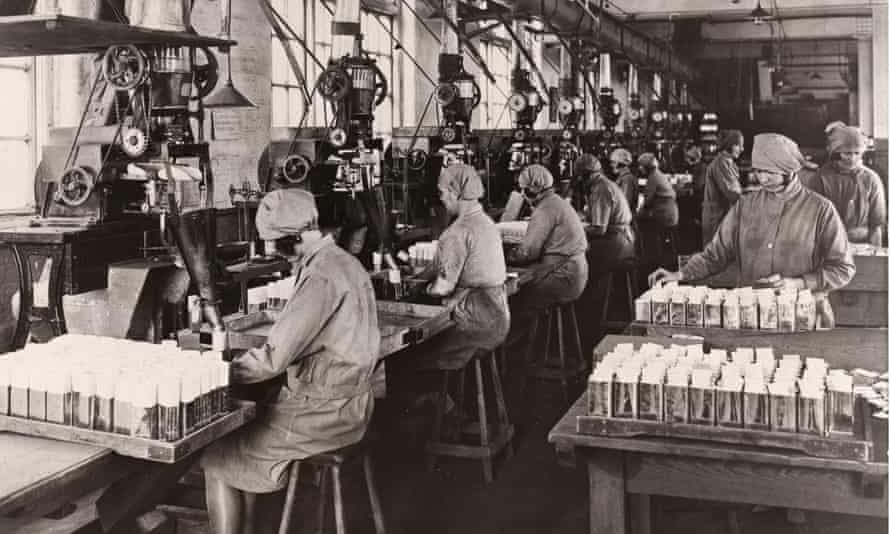 Women at work in a Rowntree's factory in York, 1929.