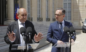 Jean-Yves Le Drian (left) and Heiko Maas