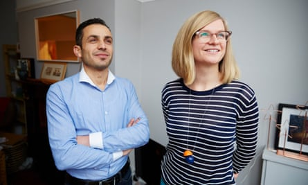 Helen Pidd with her Syrian lodger, Yasser.