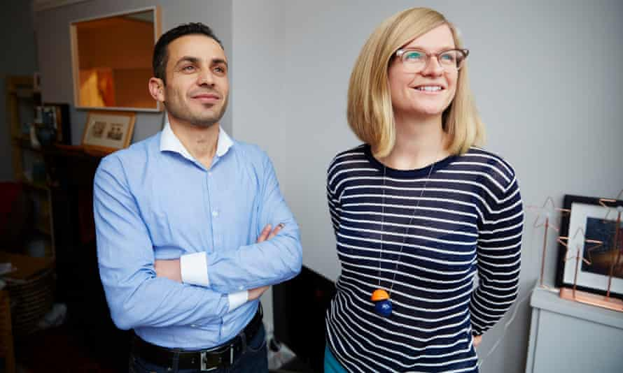 Guardian writer Helen Pidd at home in Manchester with her Syrian lodger, Yasser