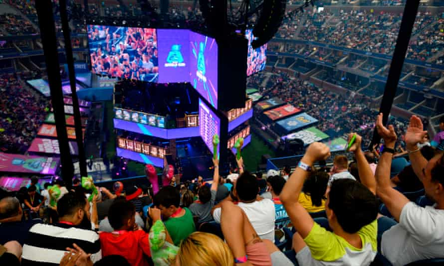 The final of the solo competition at the 2019 Fortnite World Cup in New York on Sunday.