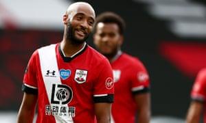 Nathan Redmond in the new Southampton 2020-21 kit