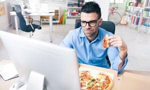 Two-thirds of Britons now eat our lunches 'al desko'.