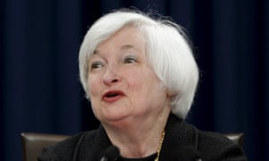 Fed chair Janet Yellen speaks to the media after the Federal Open Market Committee meeting in Washington.
