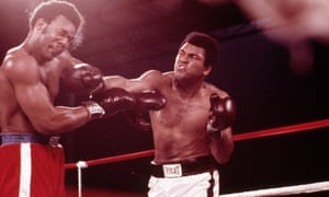 Muhammad Ali, right, fought George Foreman, left, in Zaire.
