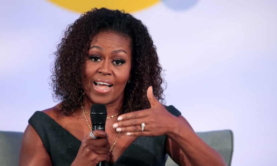 Michelle Obama said: 'I want to remind white folks that y'all were running from us. And you're still running.'