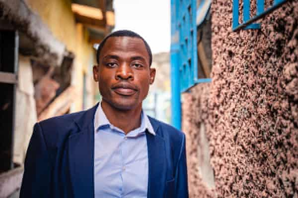 Charles Lukania, local musician and one of the leaders of the Dandora Hip Hop City group