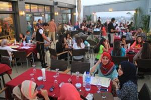 Level Up restaurant, Gaza City