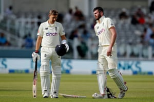 Dom Sibley and Joe Root stop to catch their breath during an all-action batting display.