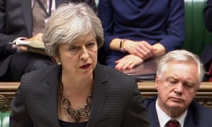 Theresa May addresses the House of Commons on Monday following her summit with EU leaders last week.